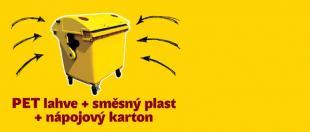 Žlutý kontejner nebude jen na PET lahve